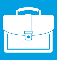 Business briefcase icon white vector