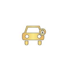 Car lock computer symbol vector