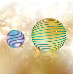 Christmas balls on abstract background vector image vector image