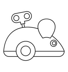 Clockwork mouse icon outline style vector