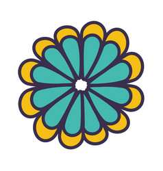 color flower blossom flat vector image