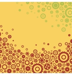 Colourful gears background flat design for cards vector