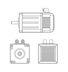 electric motor outline vector image vector image