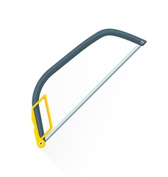 flat construction hacksaw icon vector image