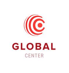 global center creative company logo template icon vector image vector image