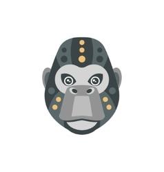 Gorilla african animals stylized geometric head vector