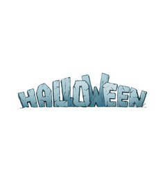 halloween holiday header vector image vector image