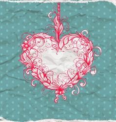heart drawn ornamental vector image