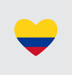 Heart in colors of the colombia flag vector