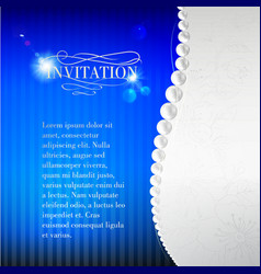 Jewelry invitation card vector image