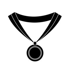 Medal award win sport image silhouette vector