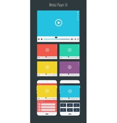 Media player app mock up vector