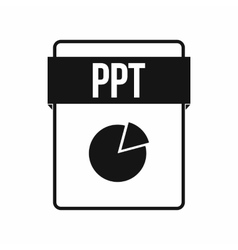 Ppt file icon simple style vector