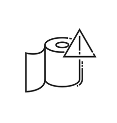 Roll of toilet paper icon vector