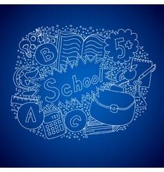 School doodle object vector