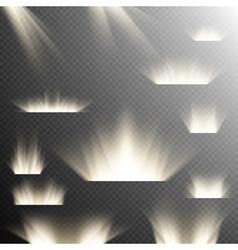 Set of Spotlights EPS 10 vector image vector image