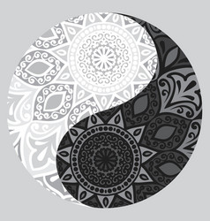 Shape of symbol yin yang vector