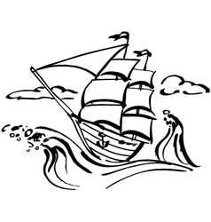 Ship clip art vector
