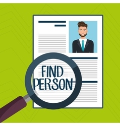 Choose find cv man vector