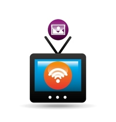 tv picture internet connection icons design vector image