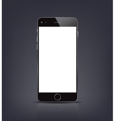 New realistic smartphone mockup with blank screen vector image
