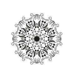 floral mandala design element isolated on white vector image