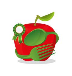 vegan food fresh premium quality vector image