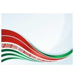 Belarus flag design with line and ornament vector