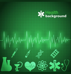 Medicine green background vector