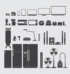 Home appliance silhouette vector