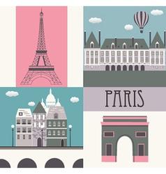 Symbols of Paris vector image