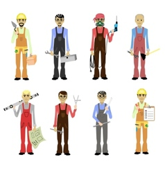 Cartoon professions set isolated vector