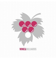 Wine and billiards concept design background vector