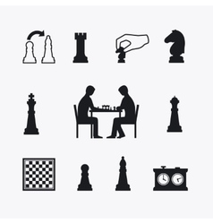 Playing chess vector