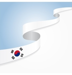 South korean flag background vector