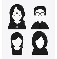 People design avatar icon white background vector