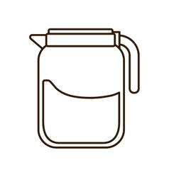 Coffee beverage drink glass jar icon vector