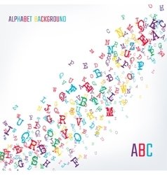 Alphabet background color vector