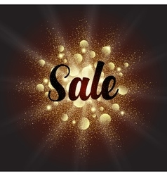 Golden dust explosion with sale sign vector
