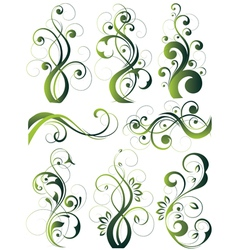 Artistic flowery designs vector