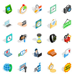 bauble icons set isometric style vector image