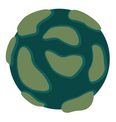 beautiful planet icon isolated vector image vector image