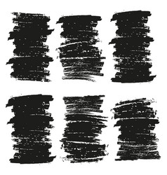 Black brush stroke vector