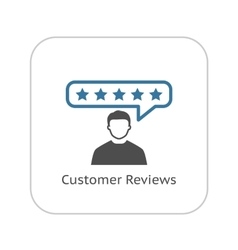 Customer reviews icon flat design vector