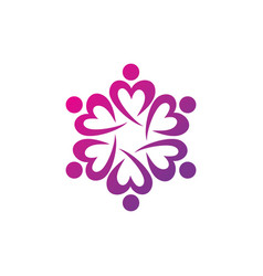 education teamwork logo vector image vector image
