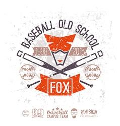 Emblem baseball campus team vector image