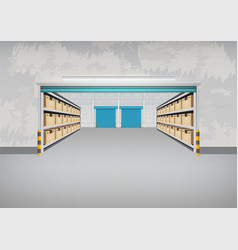 empty warehouse building vector image vector image