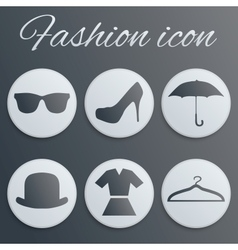 Fashion realistic button set vector