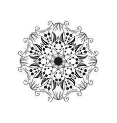 floral mandala design element isolated on white vector image vector image