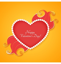 Heart with lettering Happy Valentines Day vector image vector image